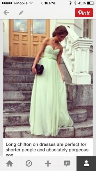 dress light green strapless
