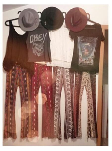 pants indie boho bohemian hippie palazzo pants
