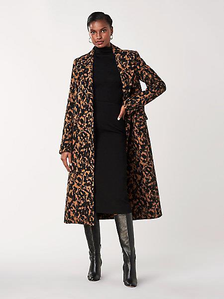DVF Women's Elsa Wool-blend Double-breasted Coat