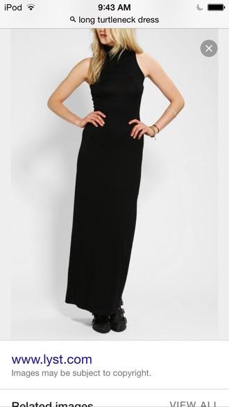dress long dress black dress turtleneck turtleneck dress sleeveless sleeveless dress