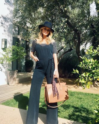 jumpsuit pants instagram maternity rosie huntington-whiteley spring outfits top striped top off the shoulder