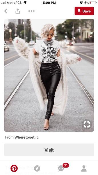coat white fur coat long