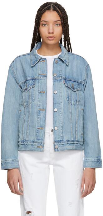 jacket denim boyfriend blue