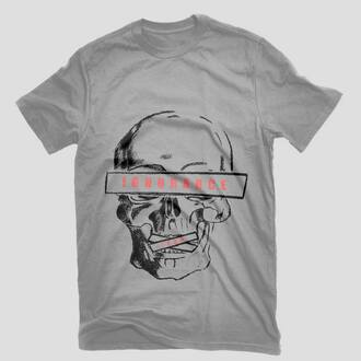 t-shirt skull old school drawing sportswear hand draw hipster cool