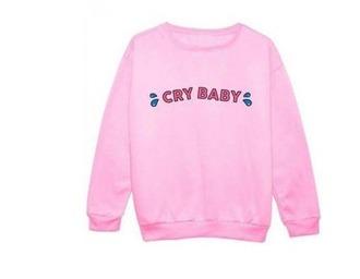 sweater pink girly girl girly wishlist sweatshirt crybaby