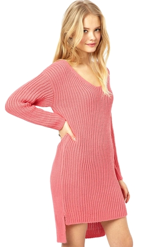 dress peach pink zaful sweater sweater dress warm knitwear fall sweater high low dress high low knitted sweater knitted dress coral coral dress college streetwear fall outfits winter sweater