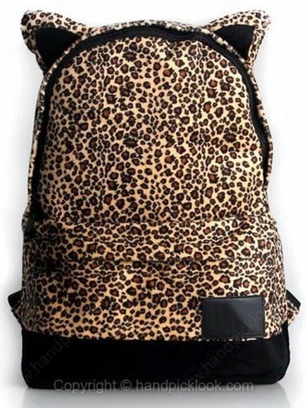 accessory bag leopard bag backpack