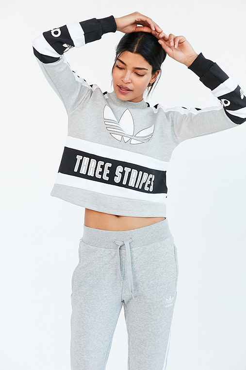 Originals Pullover 80s Outfitters Moto Sweatshirt Urban Cropped Adidas N8PZk0wXnO