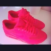 shoes,nike,nike air max 90,hot pink,hot pink nike airs