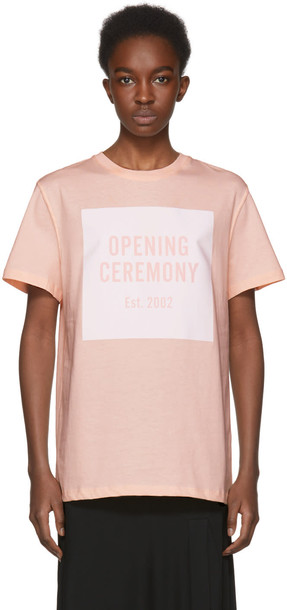 opening ceremony t-shirt shirt t-shirt pink top