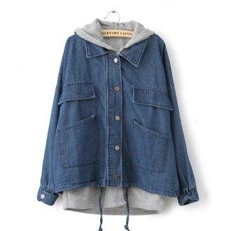 jacket denim jacket girl girly girly wishlist blue sweater grey grey sweater