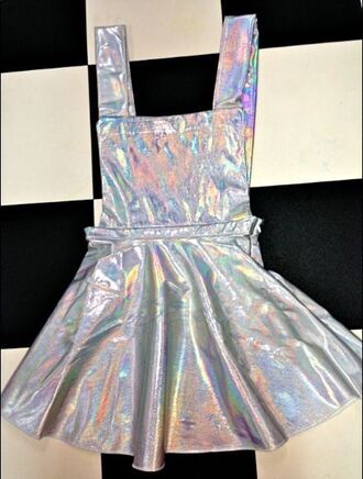 skirt kawaii kawaii grunge style fashion holographic grunge soft grunge