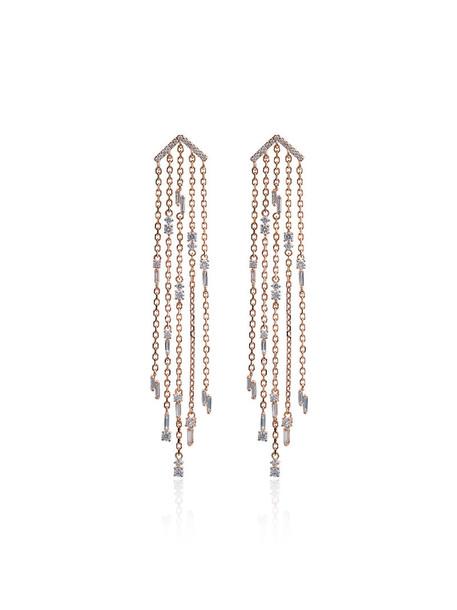 Suzanne Kalan rose gold rose women earrings gold purple pink jewels