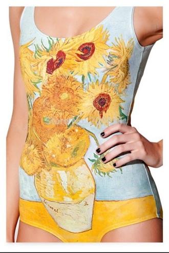 swimwear sunflower art paintings van gogh