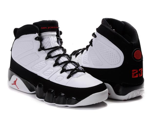 Black Friday 2013 Sale For Men's Air Jordan 9 Retro Shoes Black White Online