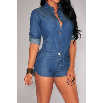 romper denim bodycon jeans