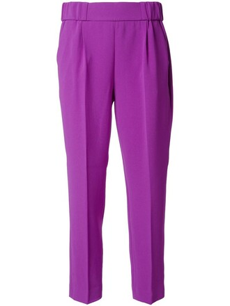 women purple pink pants