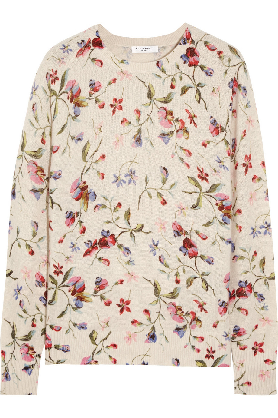 Sloane floral-print cashmere sweater – 55% at THE OUTNET.COM