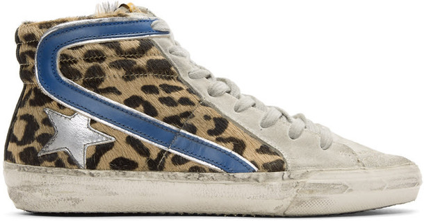Golden goose high sneakers multicolor shoes
