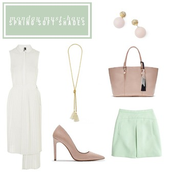 alicia tenise blogger skirt spring outfits pastel earrings baby pink high heels white dress pink bag jewels dress bag shoes pastel bag