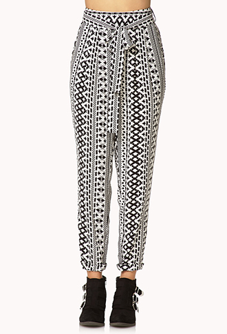 City Girl Geo Harem Pants | FOREVER21 - 2000128544