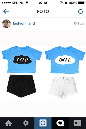 jeans shirt fangirl cute blue clouds the fault in our stars john green