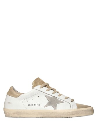 suede sneakers sneakers leather suede gold white shoes