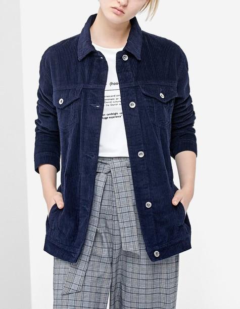 Stradivarius jacket navy blue