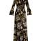 Stephanie floral-print silk crepe de chine gown
