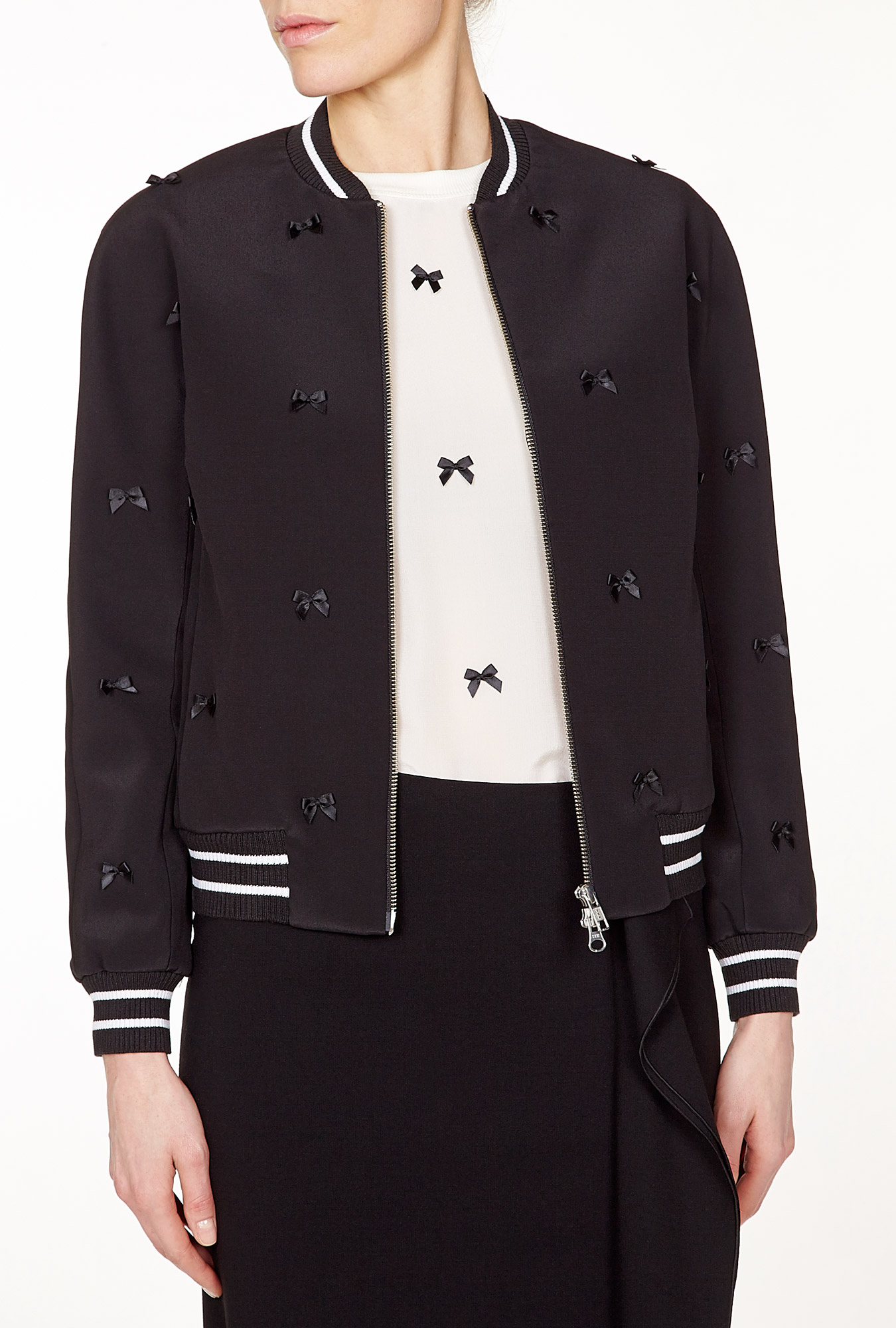 Antipodium | Cry Baby Bomber Jacket With Bow Detail by Antipodium