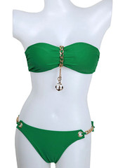 Gold chain bikini set