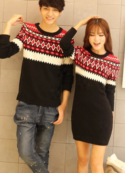 Fashion geometric colorful sweaters yy4
