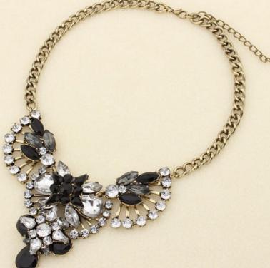 Vintage retro rhinestone statement necklace · fashion struck · online store powered by storenvy