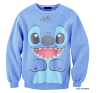 sweater lilo stitch sweatshirt hoodie lilo and stitch disney swimwear swag shirt clothes disney sweater blue bag topshop urban outfitters cute blue sweater stich lilo&stitch lelo and stitch jumper warm sweater winter outfits chill mode