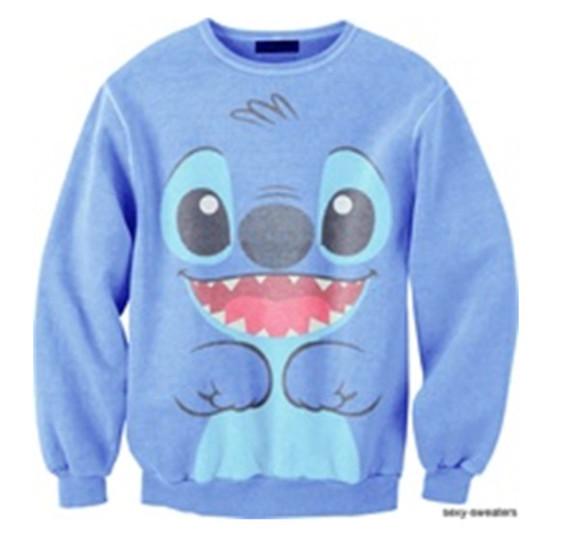 stitch blue sweater sweater lilo hoodie lilo and stitch disney swimwear shirt