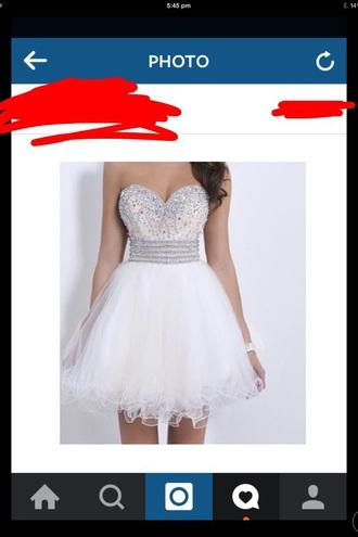 dress white sparkly