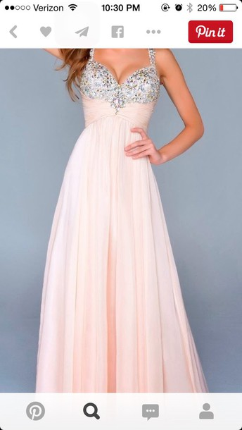 dress prom dress light pink jewelss