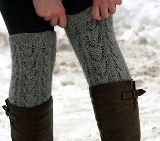 shoes overknee socks sweater socks grey winter outfits