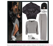 skirt,grey,jumper,rihanna,jacket,shoes,hat,celebrity style,long skirt,zipped skirt,sunglasses,adidas,adidas shoes,adidas superstars
