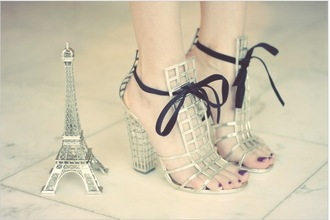 shoes high heels paris eiffel tower heels style