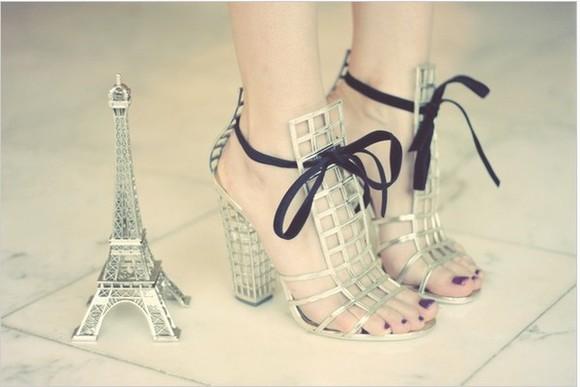 paris eiffel tower heels style high heels