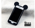 Online Shop Mickey Mouse border silica gel following from the ear for iphone 5s 5/4s 4 case|Aliexpress Mobile
