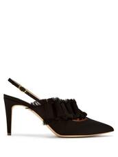 pumps,black,satin,shoes