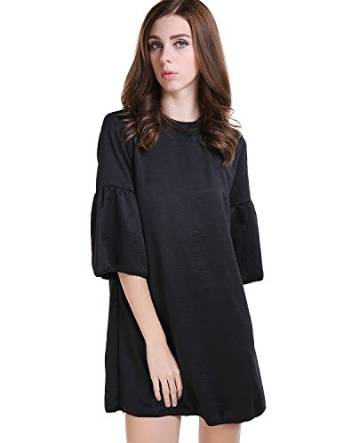 haoduoyi Women's European Style Sinple Back Slit Dress at Amazon Women's Clothing store: