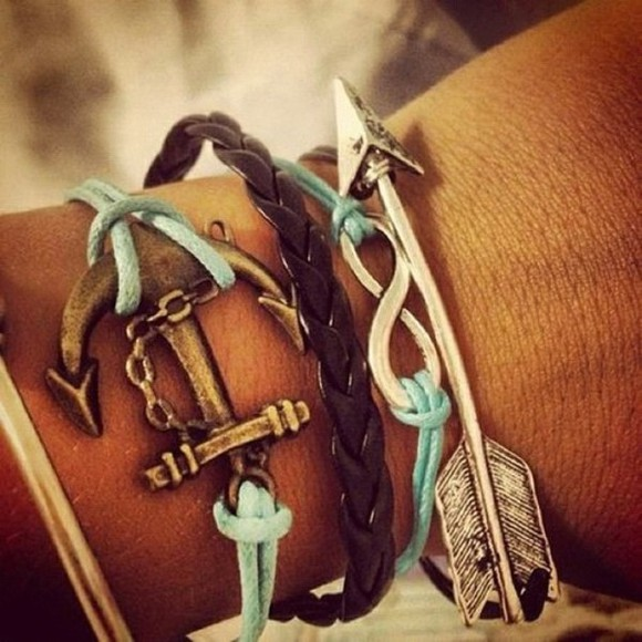 jewels bracelets anchor arrow bracelet anchor bracelet vintage arrow infinity braid bracelet set bracelets infinity bracelet braid
