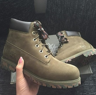 shoes boots timberland camouflage
