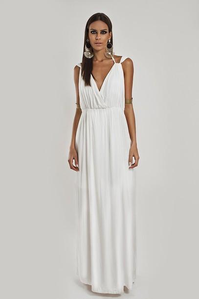 662574a95f9787 dress white dress cotton greek goddess summer dress beach dress wedding  clothes