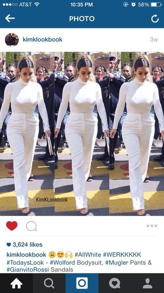 pants white kim kardashian