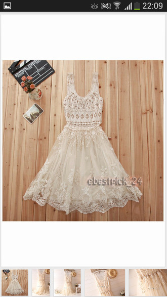 dress bohemian white dress lace dress summer dress romantic dress