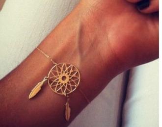 jewels necklace jewelry gold gold jewelry bracelets gold bracelet dreamcatcher dreamcatcher bracelet boho boho jewelry bohemian
